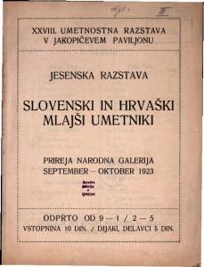 XXVIII. umetnostna razstava v Jakopičevem paviljonu - Slovenski in hrvaški mlajši umetniki