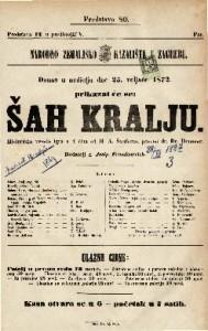 Šah kralju historička vesela igra u 4 čina / od H. A. Šauferta