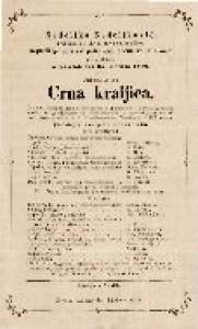 Crna kraljica : izvorna čarobna igra s pjevanjem u 2 razdjela i 1 predigrom