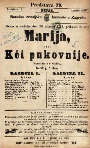 Marija ili Kći pukovnije Vaudeville u 2 razdiela