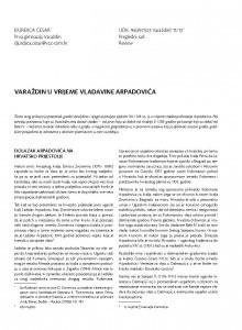 Varaždin u vrijeme vladavine Arpadovića