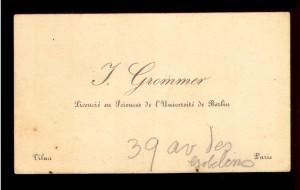 J. Grammer licencie eu Sciences de l'Universite de Berlin