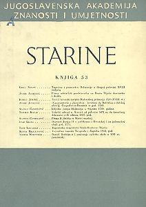 Knj. 53(1966) : Starine