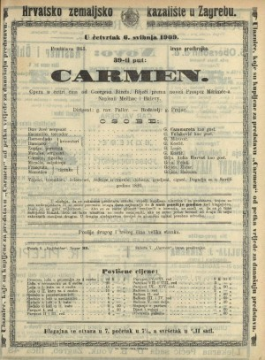 Carmen Opera u četiri čina / Prema istoimenoj noveli Prospera Mériméea  =  Carmen