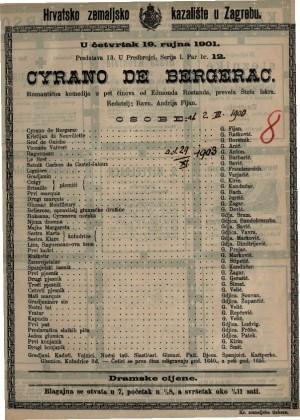 Cyrano de Bergerac romantična komedija u pet činova / od Edmonda Rostanda