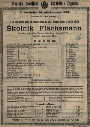 Školnik Flachsmann komedija u tri čina / napisao Otto Ernst