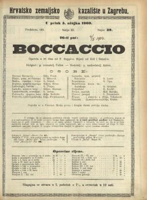 Boccaccio : Opereta u tri čina