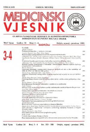 God. 24, br. 3-4(1992) : Medicinski vjesnik
