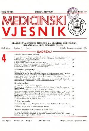 God. 19, br. 4(1987) : Medicinski vjesnik