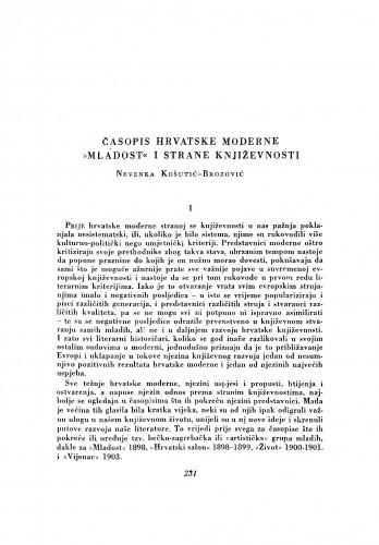 Časopis hrvatske moderne