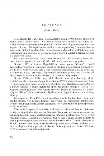 Leo Junek : (1899.-1993.) / Josip Vaništa