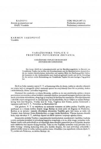 Varaždinske Toplice u prostoru povijesnih zbivanja : Radovi Zavoda za znanstveni rad Varaždin