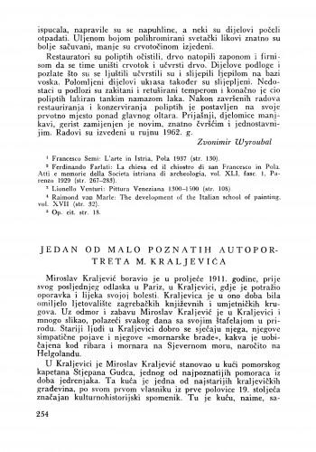 Jedan od malo poznatih autoportreta M. Kraljevića : Bulletin Zavoda za likovne umjetnosti Jugoslavenske akademije znanosti i umjetnosti