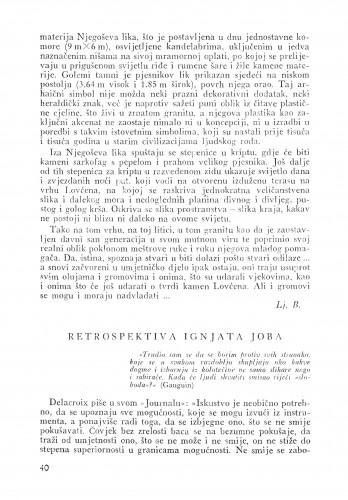 Retrospektiva Ignjata Joba : Bulletin Instituta za likovne umjetnosti Jugoslavenske akademije znanosti i umjetnosti