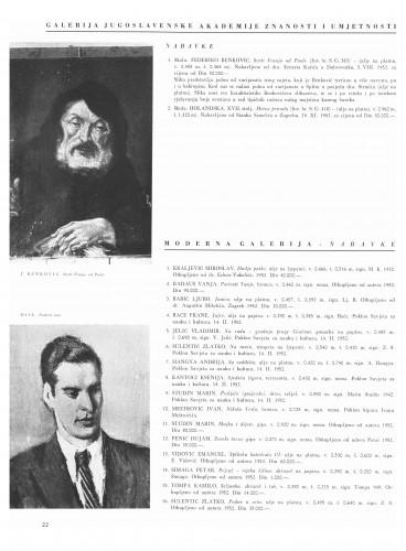 Nabavke : Galerija JAZU : Moderna galerija : Bulletin Instituta za likovne umjetnosti Jugoslavenske akademije znanosti i umjetnosti