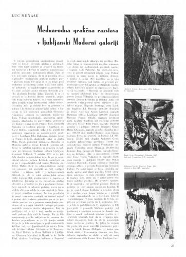 Međunarodna grafična razstava v Ljubljanski Moderni galeriji : Bulletin Instituta za likovne umjetnosti Jugoslavenske akademije znanosti i umjetnosti