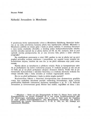 Nebeski Jeruzalem iz Mondseea : Bulletin Razreda za likovne umjetnosti Jugoslavenske akademije znanosti i umjetnosti