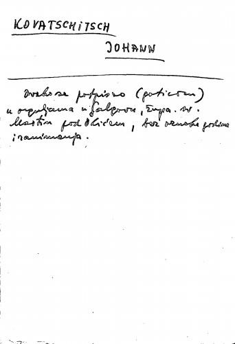 Kovatschitsch Johann