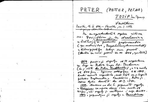 Peter (Petter, Petar) Josip Varaždin