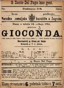 Gioconda Velika opera u 4 čina / Uglasbio Hamilkar Ponchielli
