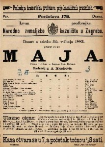Maja Drama u 4 čina / napisao Julio Rorauer