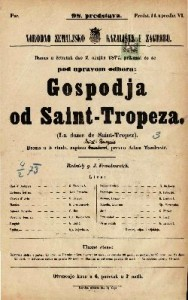 Gospodja od Saint-Tropeza drama u 5 činah
