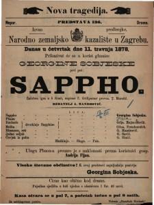 Sappho žalobna igra u 5 činah / napisao F. Grillparzer