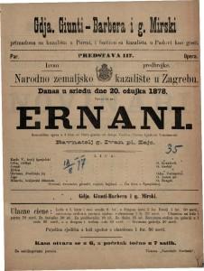 Ernani romantična opera u 4 čina / glasba od Josipa Verdi-a