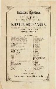 Djevica orleanska romantična tragedija u 5 činah i jednom predigrom / spjevao Fridrik Šiller
