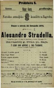 Alesandro Stradella romantična opera u 3 čina / od Friedricha pl. Flotova