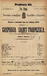 Gospodja Saint-Tropejska drama u 5 čina / napisao Anicet-Bourgeois