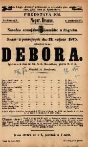 Debora Igrokaz u 4 čina / od dra. S. H. Mosenthala