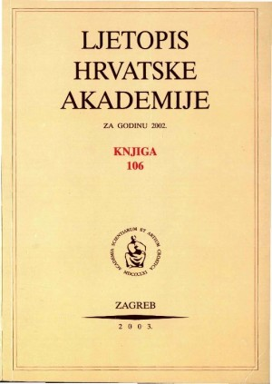 2002. Knj. 106 : Ljetopis
