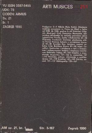 God. 21(1990), br. 1 : Arti musices
