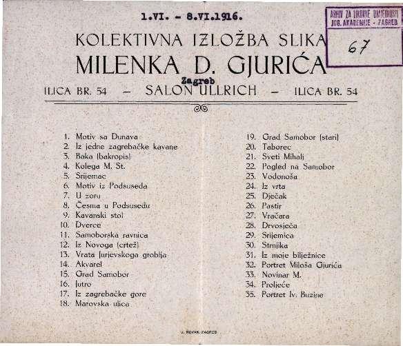 Kolektivna izložba slika Milenka D. Gjurića