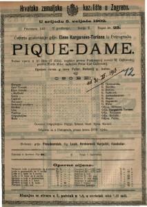 Pique-dame velika opera u tri čina (7 slika) / uglazbio Petar Iljić Čajkovskij