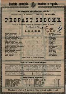 Propast Sodome : drama u pet činova / napisao H. Sudermann