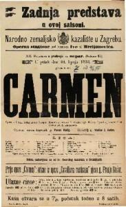 Carmen Opera u 4 čina / Uglasbio Georges Bizet