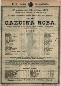 Gazdina roba Drama s pjevanjem u tri / napisala Gabriela Preissova