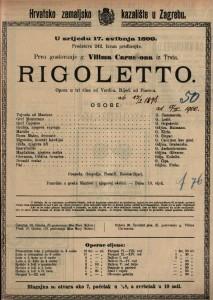 Rigoletto opera u tri čina / od Verdi-a