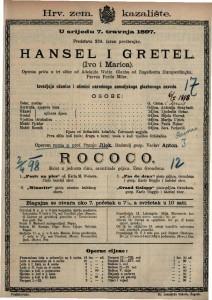 HANSEL I GRETEL Operna priča u tri slike