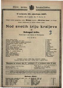 Noć svetih triju kraljeva ili Kakogod želite Vesela igra u pet činova / od Shakespeara