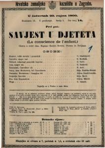 Savjest u djeteta gluma u četiri čina / napisao Gaston Devore