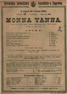 Monna Vanna drama u tri čina / napisao Maurice Maeterlinck