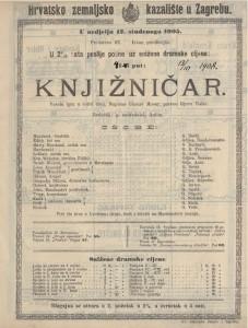 Knjižničar vesela igra u četiri čina / napisao Gustav Moser
