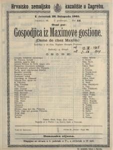 Gospodjica iz Maximove gostione lakrdija u tri čina / napisao Georges Feydeau  =  Dame de chez Maxim