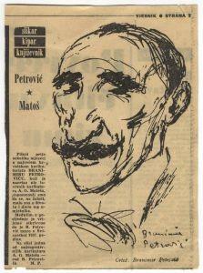 Karikatura A. G. Matoša u