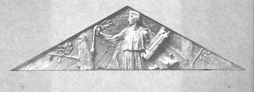 Valdec, Rudolf  : Apolon Musagetes - skica za timpanon Umjetničkog paviljona