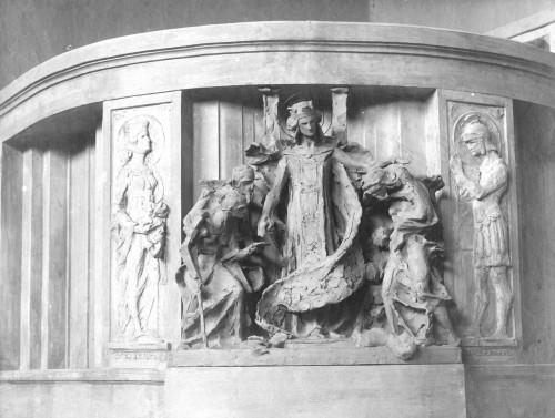 Valdec, Rudolf (1872-1929) : Skica reljefa za lječilište na Brestovcu