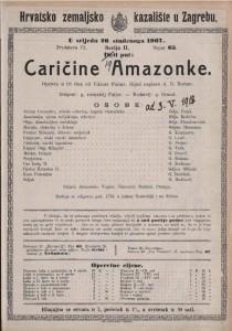 Caričine Amazonke opereta u tri čina / od Viktora Parme